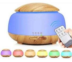 Humidificador difusor, grano de madera, 300ml, distribuidor , luz nocturna LED, YANKE silencioso