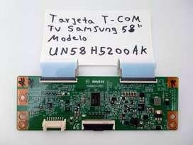 Tarjeta T-com Tv Samsung Modelo:un58h5200ak