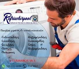 mantenimiento NEVERAS Y NEVECONES WHIRPOOL TECNICOS 24/7 REPARACIONES