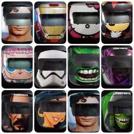 Protector facial con vincha niños y niñas 64 modelos de super  héroes y princesas delivery todo lima