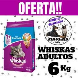 Oferta whiskas adulto x 6kg