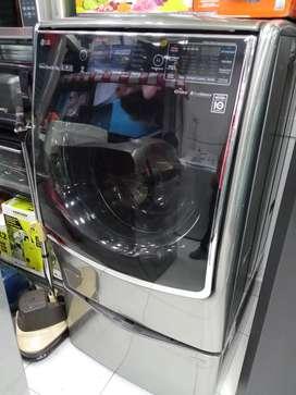 LAVADORA SECADORA LG 22KG + TWIN WASH