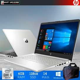Laptop HP 14 Pulgadas Core i5 10 Generacion 4GB RAM, REGALO