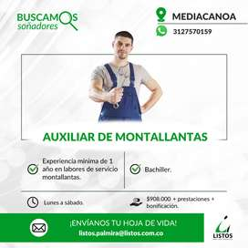 AUXILIAR DE MONTALLANTAS-MEDIACANOA