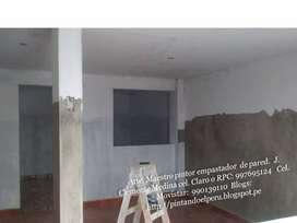 Maestro pintor ; empastado y pintura en fachadas e interiores
