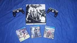 PS4 Excelente Estado 10/10, 2 controles, 3 películas!