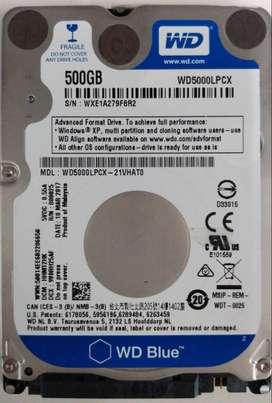 Disco Rígido para notebook Western Digital Sata 500 gb