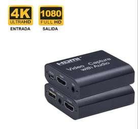 Capturadora De Video Streaming Fhd Hdmi 4k Mic Usb Xbox Ps4