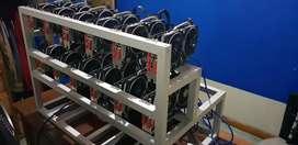 Rig mineria 12 tarjetas rx 470 de 8 gb