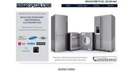 Servicio Técnico Reparación instalación y mantenimientos Neveras,Lavadoras,Secadoras,estufas,Calentadores,aires