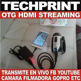 Capturador HDMI  Vmix OBS Tarjeta Interface Video Streaming Full Hd Facebook Youtube Celular Smartphone