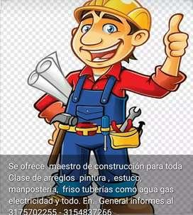 Ofrezco mis. Servicios de.maestro de construcción