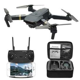 Dron con calara full hd wifi trajiste en vivo toma foto alcanza asta 25 metros control inalámbrico y estuche a