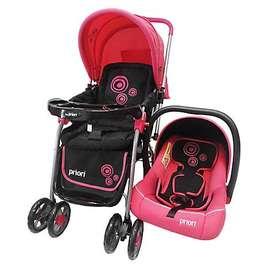 Coche bebe travel system- rosado