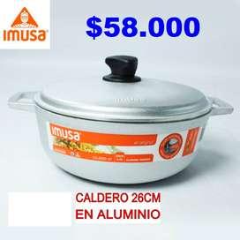 Caldero Imusa en aluminio 26cm 4.5 litros