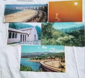 5 Tarjetas Postales décadas 70,80,04