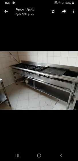 Mesones lavaplatos estufas