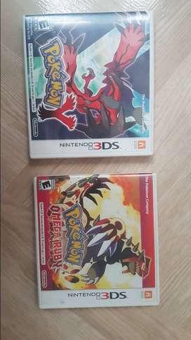 Vendo pokemon Y y pokemon omega ruby para 3ds