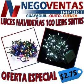 LUCES NAVIDEÑAS LINEALES DE 100 LEDS EXTENSION DE 5 METROS