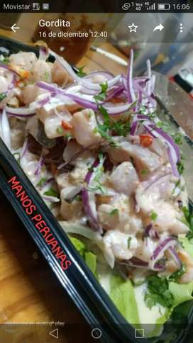 Se prepara comida Peruana por pedido