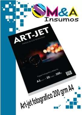 Papel fotografico Art-Jet 200grs