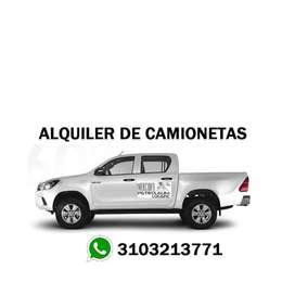 Alquiler de camioneta con conductor
