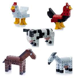 Coleccion Animales de granja Zoo Cubics