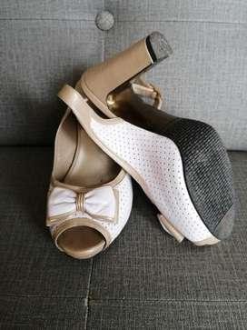 Zapato,blanco Elegante