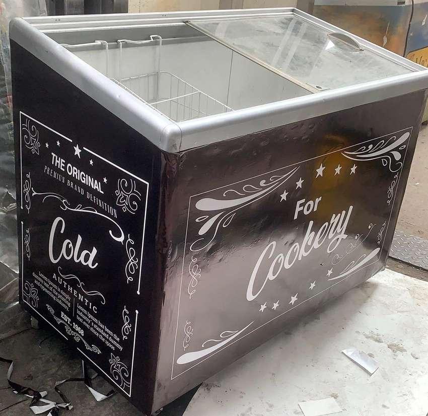 Congelador Vintage decorado 0