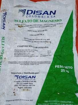 Fertilizante - Sulfato de Magnesio Agrícola