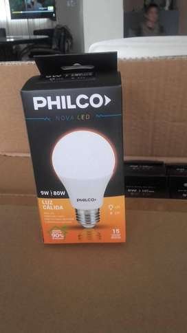 10  lamparas led Philco 9 w calidas x 10 unidades