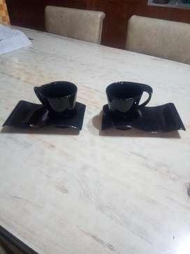 Taza Y Portataza de Ceramica