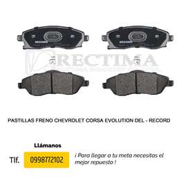 PASTILLAS DE FRENO CHEVROLET CORSA EVOLUTION, 1400/1600