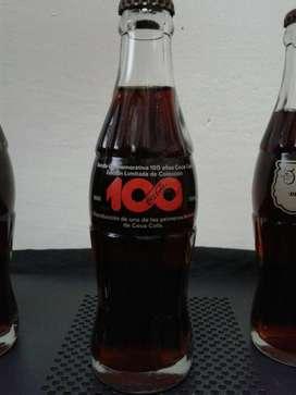 Botellas de Coca Cola colección 100 años