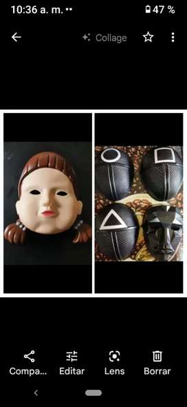 Juego del calamar ... Máscaras disponibles ... Liquidación