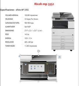 venta de ricoh mp 3352