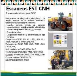 servicio de escaner EST-CNH para maquinaria CASE - retroexcavadoras, excavadoras, cargadores frontales,