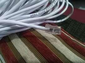 25 Metros Cable de Red Internet. Utp Cat 5e Uso Interior y Exterior