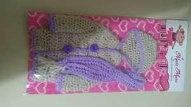 Ropa para muñeca flaca a crochet