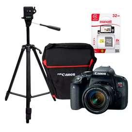 Se vende camara Canon EOS REBEL T7i modelo 2021