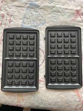 Placas wafles sanduchera Universal