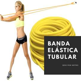 Bandas elásticas, banda elástica tubular, fitnnes gym, por metro