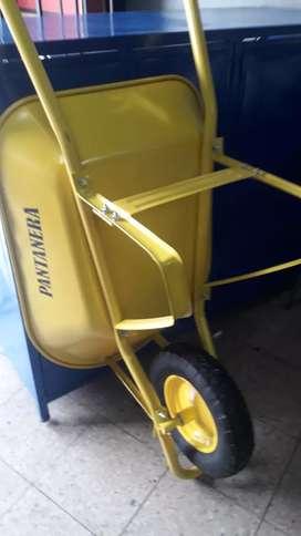Carretillas con rueda de tractor inflable