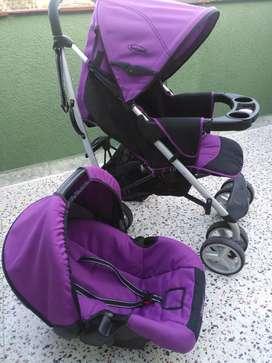 Coche para bebe + silla para carro bebesit