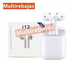 Audífono Bluetooth I12 Con Base Tws Inalámbrico