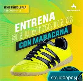 Zapatillas Micro fútbol MARACANA Original 100 % en cuero.