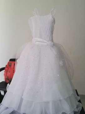 Vestido de primara comunión talla 8_10