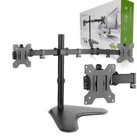 Soporte Para Monitor Lcd / Led, Doble Klip Xtrem Kpm-311