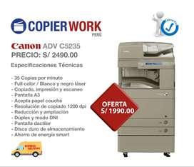 FOTOCOPIADORA - IMPRESORA CANON A COOR ADV C 5235  LASER - 35  PPM / A3 / DUPLEX / MUY ECONOMICA - LASER PARA FOTOS