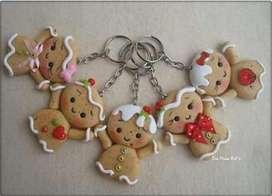 navidad porcelana fria llaveros cajas regalos detalles